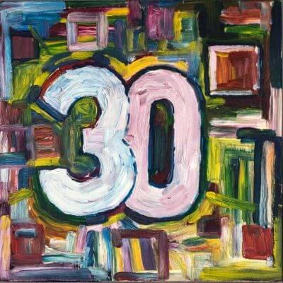 30 Quadrat - Künstlerlogo von Jakobus Durstewitz