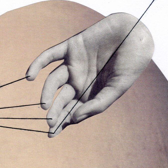 Fehmi Baumbach - Collages - Die weißen Hände