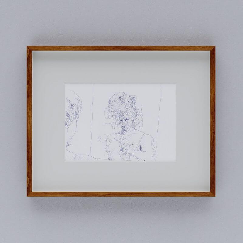 Max Müller - Zeichnung - Abschied