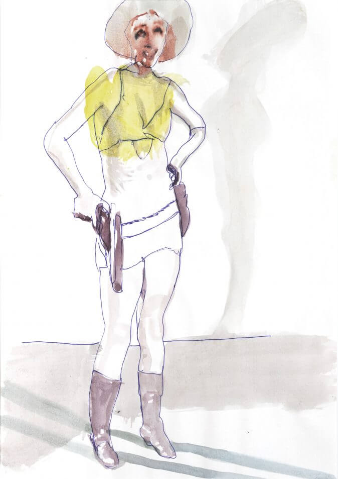 Max Müller - Aquarell - Cowgirl