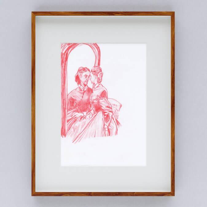 Max Müller - Zeichnungen - Der Blick in den Spiegel