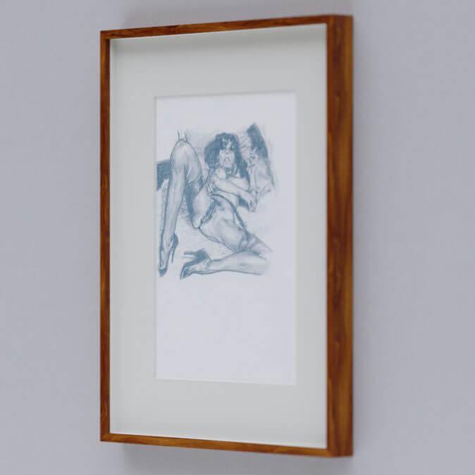 Max Müller - Zeichnungen - Frau im Bett