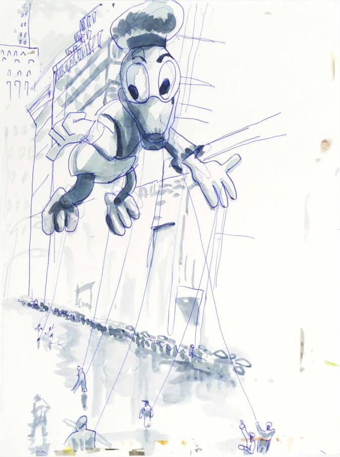 Max Müller - Aquarell - Macy's Thanksgiving Day Parade