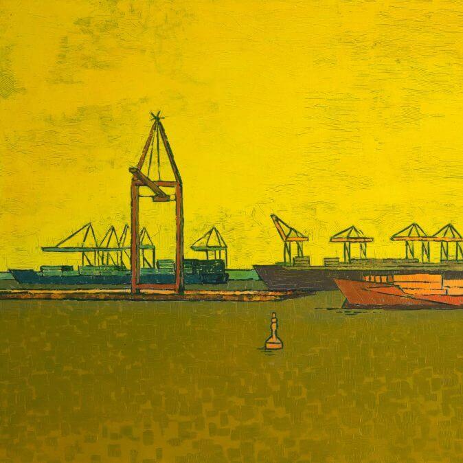 Jakobus Durstewitz - Untätige Kräne - IV - Parkhafen