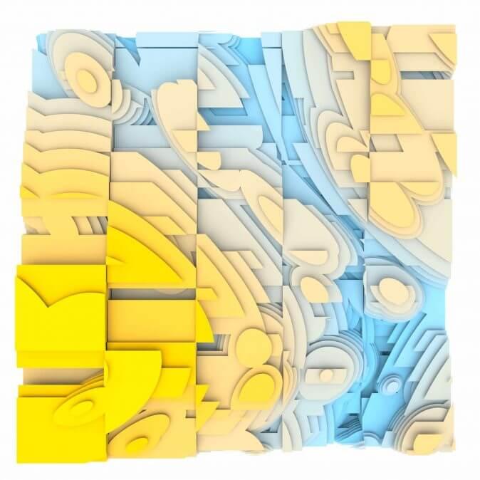 Jan Casagrande - Volumetric Noise - Voronoi Cubism 0823