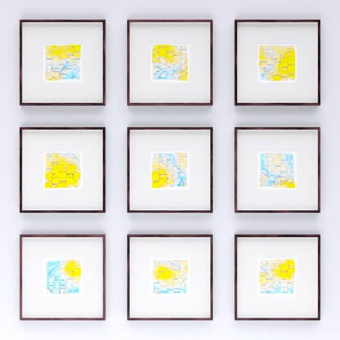 Jan Casagrande - Volumetric Noise - Voronoi Cubism 0819 - 0827 Übersicht