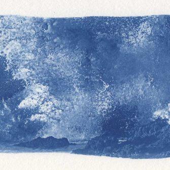 Jan Casagrande - Cyanowaves No. 04/04 - Serielles Original - Cyanotypie