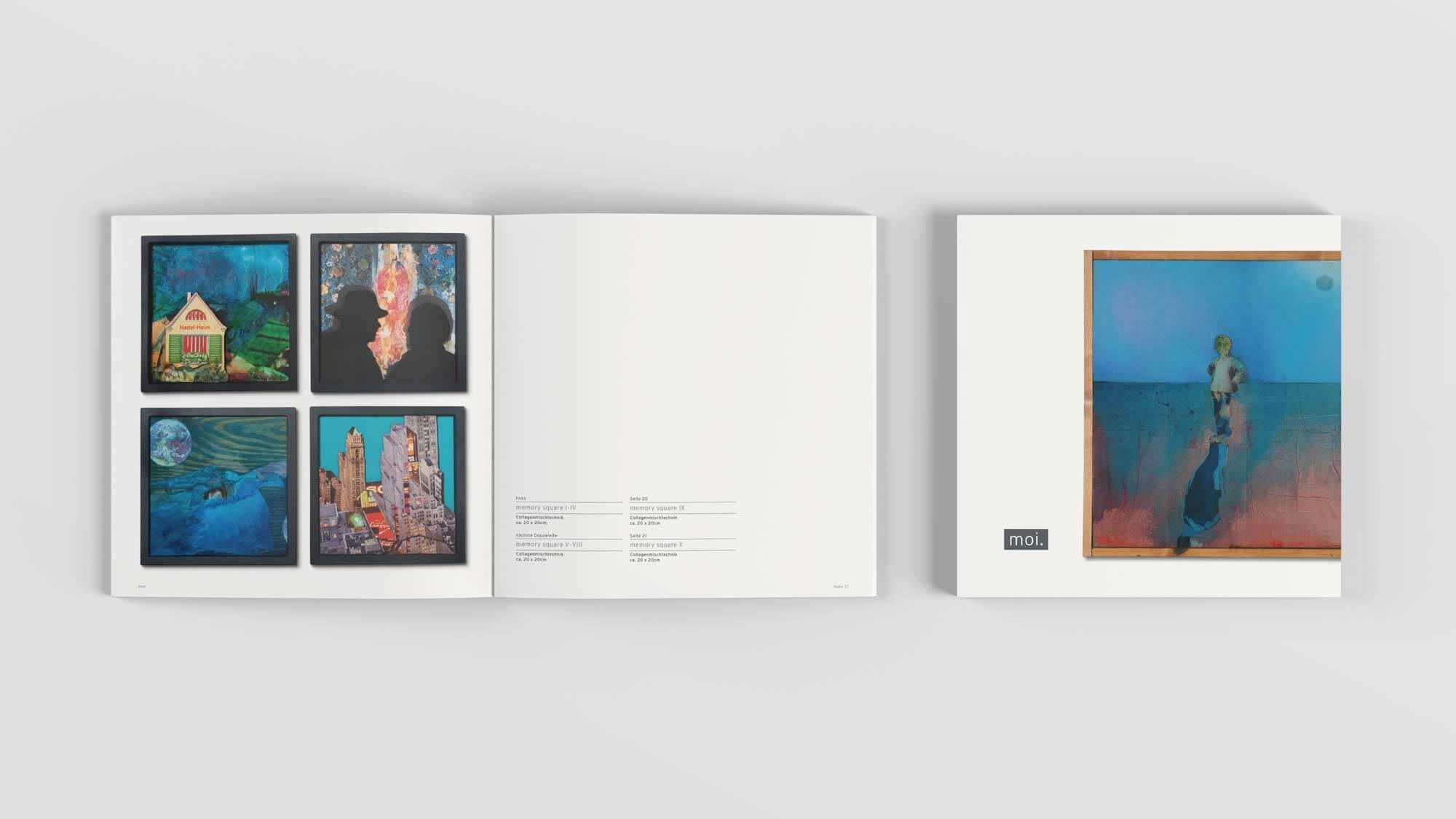 moi. - 56seitiges Bildbändchen/Katalögchen zur Ausstellung