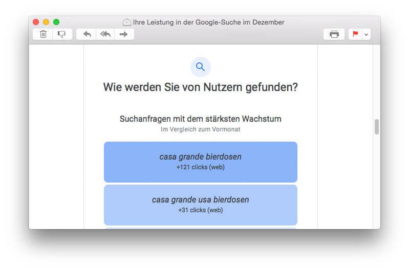 Was Google sagt: 30 Quadrat - Suchanfragen mit dem stärksten Wachstum
