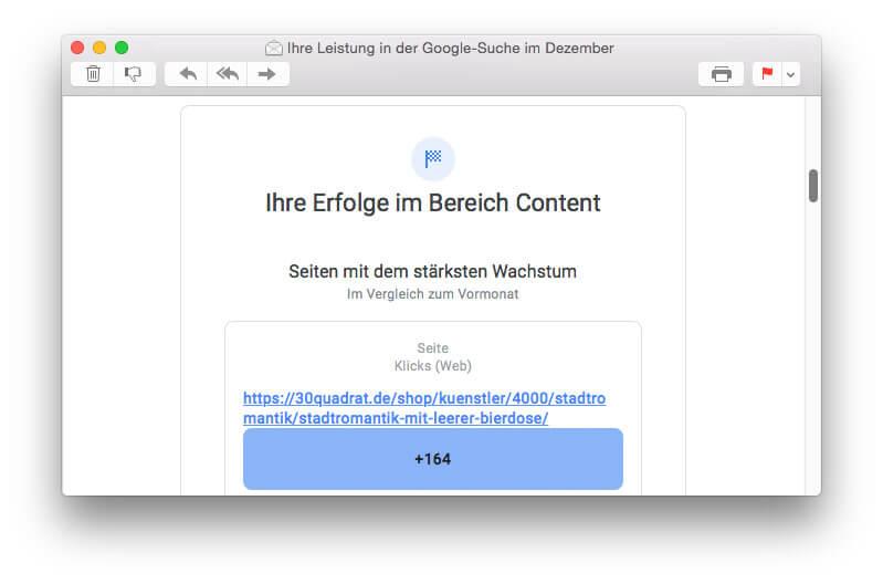 Was Google sagt: 30 Quadrat - Seiten mit dem stärksten Wachstum
