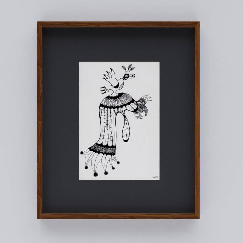 Jo Zimmermann - Schmuckhafte Nachtsichthaube mit stark orientierungsloser Ausrichtung. Mit Rahmen