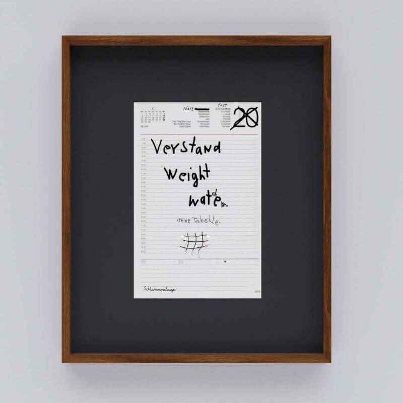 Jo Zimmermann - Verstand Weight Watchers. Ohne Tabelle. Mit Rahmen