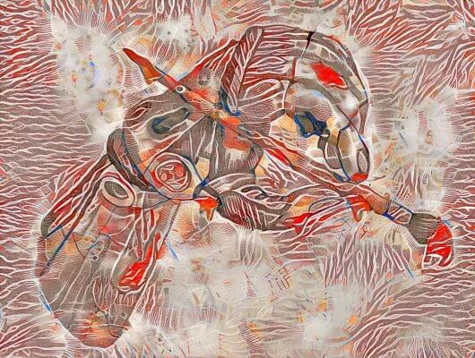 Stil Transfer - Gideonizer - Gideonvirus - Illustration von Ava Casagrande - High Quality Neural Style Transfer