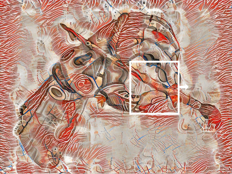 high-quality Stil Transfer - Ausschnitt - High resolution Neural Style Transfer