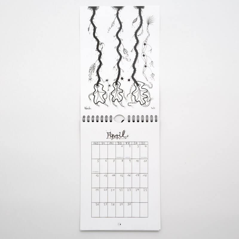 Jo Zimmermann - Wandkalender 2021 - offen April