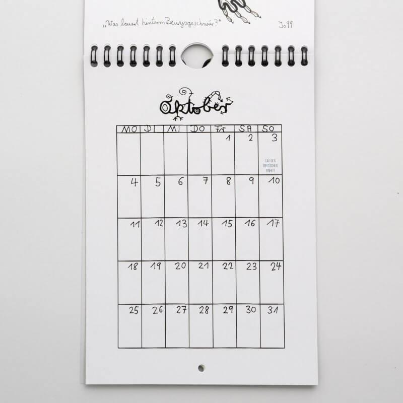 Jo Zimmermann - Wandkalender 2021 Detailansicht Oktober