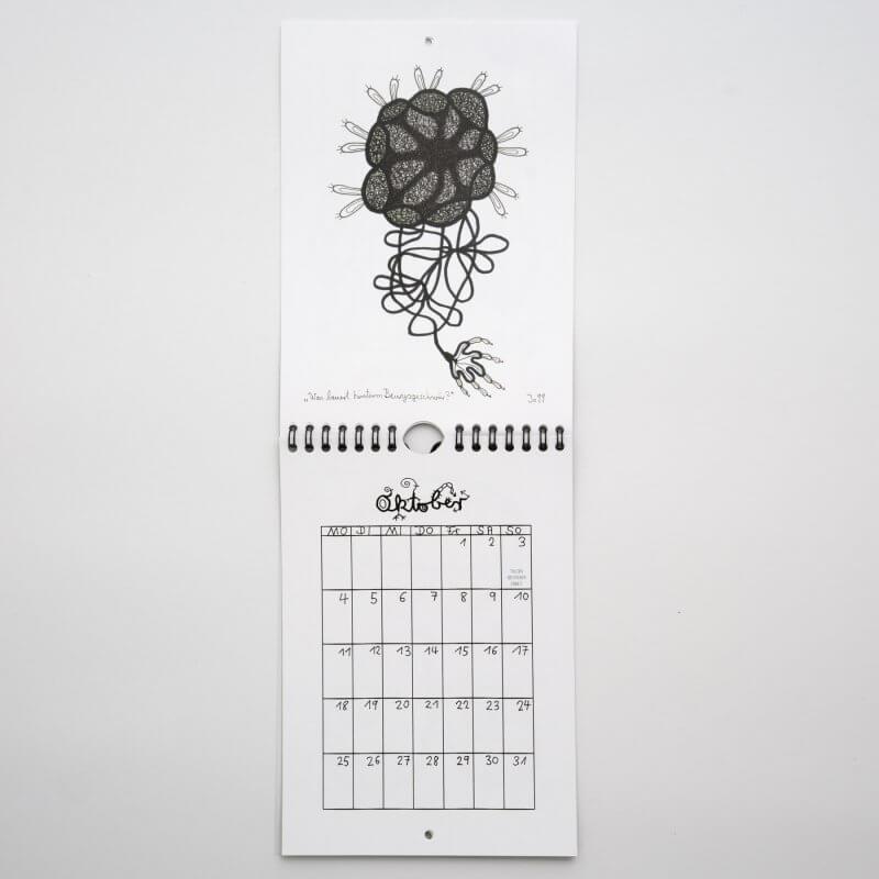 Jo Zimmermann - Wandkalender 2021 offen